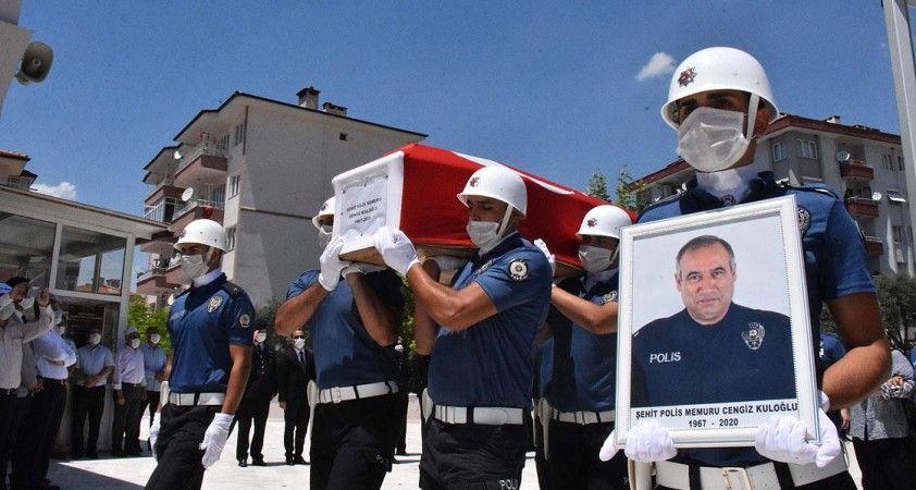 Trafik kazası sonucu şehit olan polis memuru Muğla'da son yolculuğuna uğurlandı