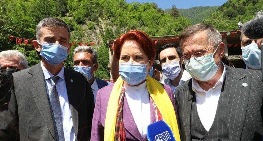 Akşener'den Erdoğan'ın açtığı tazminat davasına yorum: Helal paraya ihtiyaç duyduğunda bana mahkeme açıyor