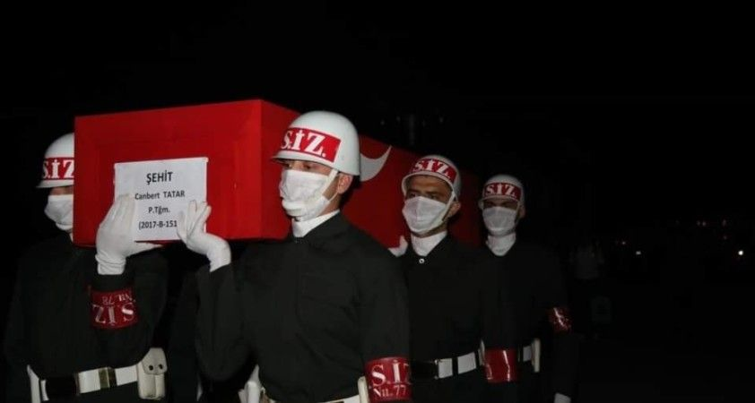 İdlib şehidi Teğmen Tatar'ın naaşı Elazığ'da getirildi