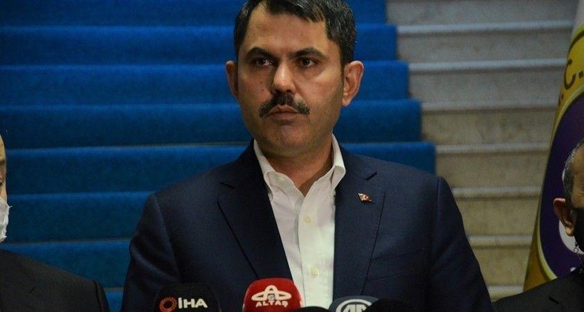 """Murat Kurum:""""Bugüne kadar yüzme suyu alanlarında herhangi bir sorun tespit edilmedi"""