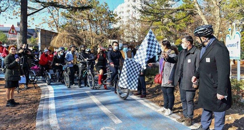 Ankara Büyükşehir Belediyesinin 'Bisiklet Yolu Projesi'nin ilk etabı tamamlandı