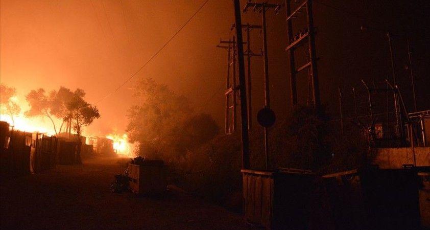 Yunanistan'ın Midilli Adası'ndaki yangın sonrası bölgede OHAL ilan edildi