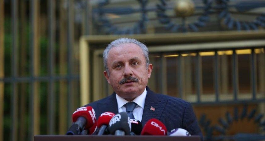 TBMM Başkanı Mustafa Şentop, Anayasa Mahkemesi Başkanı Zühtü Aslan ile görüştü