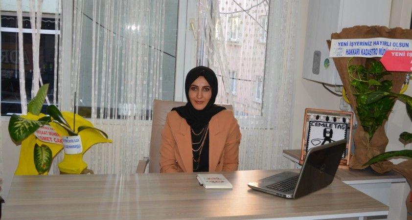 Hakkari'nin ilk kadın harita mühendisi ofisini açtı