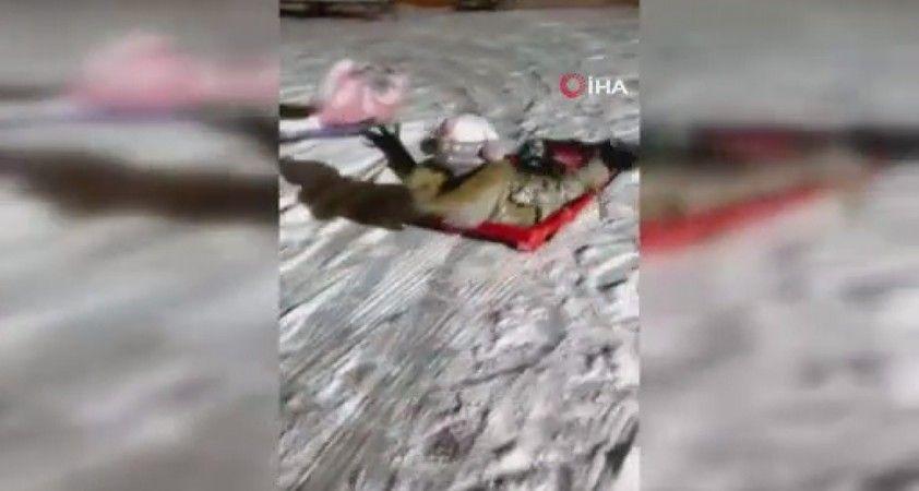 Başkent'te vatandaşın kar keyfi