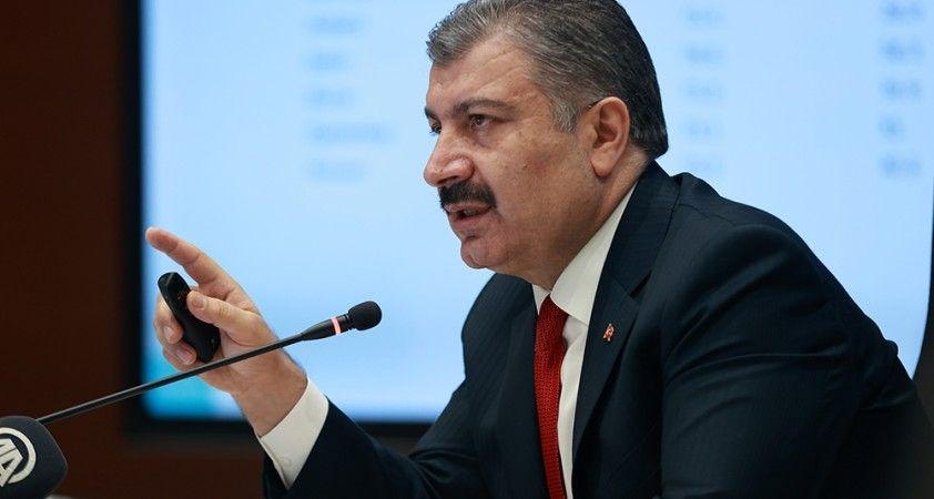 Sağlık Bakanı Koca haftalık vaka sayısını gösteren insidans haritasını yayımladı