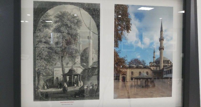 """""""Günümüz Fotoğraflarıyla Gravürlerde Eyüpsultan"""" sergisi ziyaretçilere açıldı"""