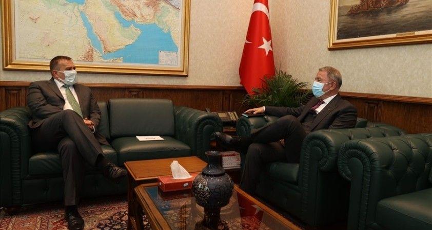 Milli Savunma Bakanı Hulusi Akar, Slovenya Büyükelçisi Primoz Seligo'yu kabul etti
