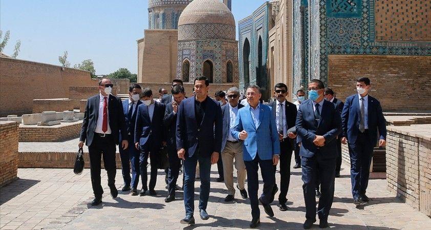 Cumhurbaşkanı Yardımcısı Oktay, Semerkant şehrini ziyaret etti