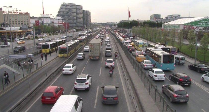 İstanbul'da trafikte yoğunluk