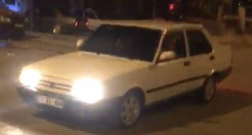Drift yaparken yakalanan alkollü sürücüye 8 bin 379 TL ceza