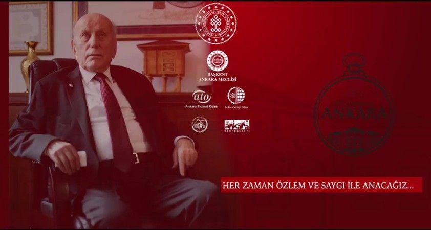 Ankara Kent Konseyi'nden Yamantürk anısına klip