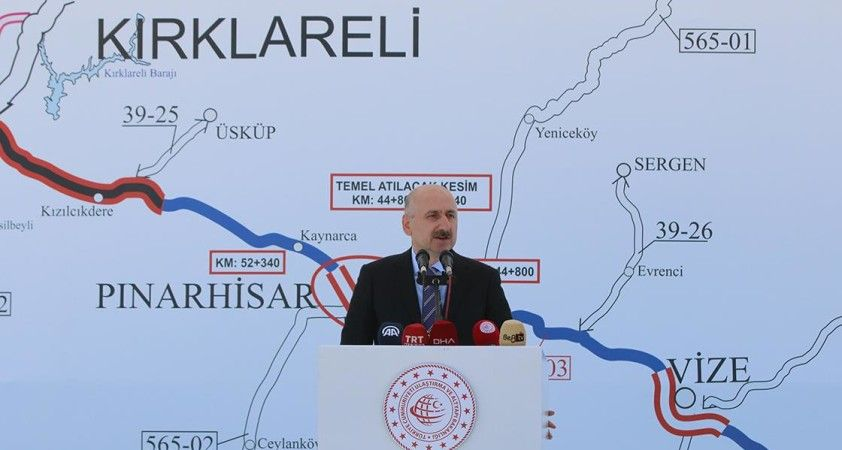 Ulaştırma Bakanı Karaismailoğlu: Saray-Kırklareli yolunun tamamlanmasıyla yıllık 98 milyon lira tasarruf edilecek