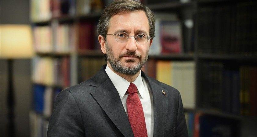 Cumhurbaşkanlığı İletişim Başkanı Altun: Türkiye, haklı davalarında Filistin'in yanında durmaya devam edecektir