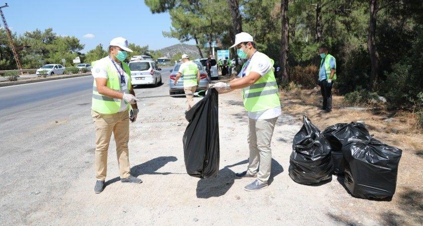 Bodrum'da 50 kilometrelik yol temizliği