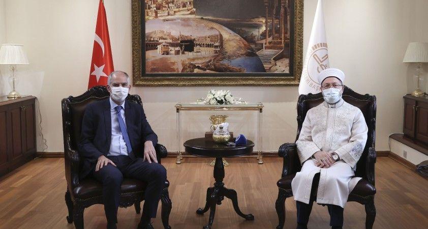 Diyanet İşleri Başkanı Erbaş, Fransa Büyükelçisi Magro'yu ağırladı