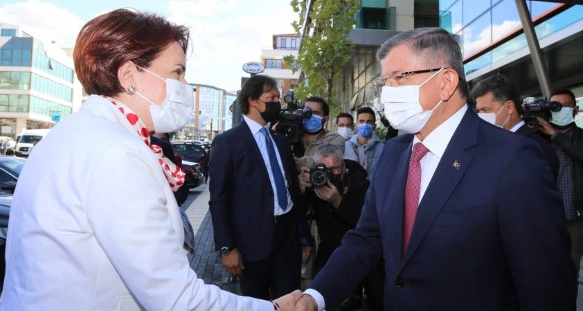 İYİ Parti lideri Akşener'den Ahmet Davutoğlu'na ziyaret