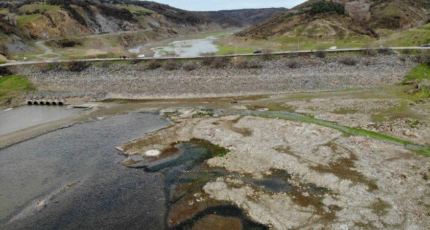 Sazlıdere Barajı yağmurlardan nasibini alamadı