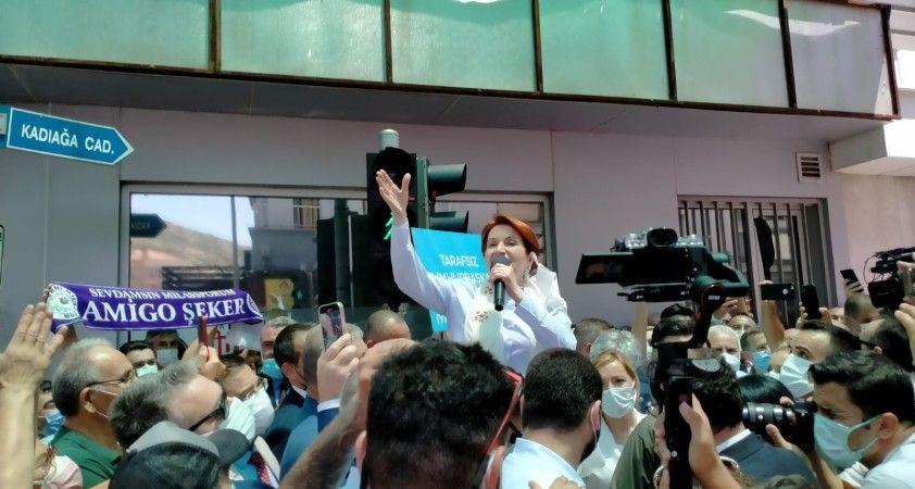 İYİ Parti Genel Başkanı Akşener'den Milas mesaisi
