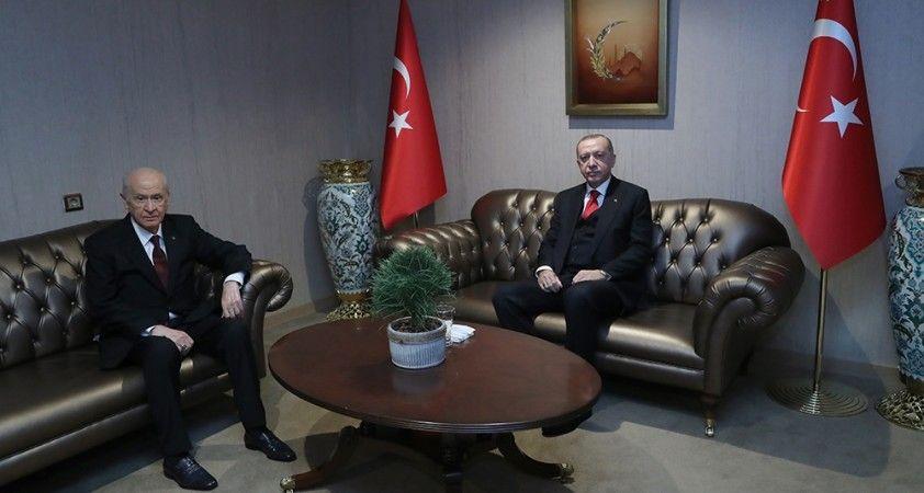 Cumhurbaşkanı Erdoğan, Devlet Bahçeli ile bir araya geldi
