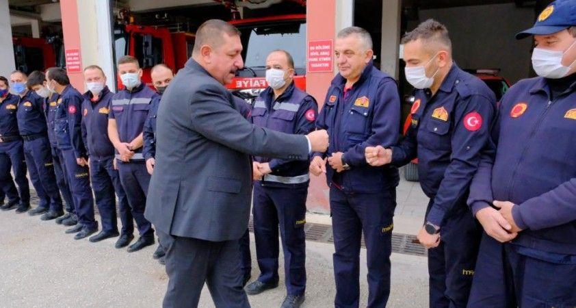 Başkan Vidinlioğlu'ndan itfaiye haftası ziyareti