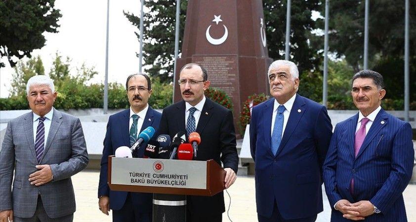 Ticaret Bakanı Muş: Türkiye ve Azerbaycan'ın ticari ilişkilerini daha da geliştirmek istiyoruz