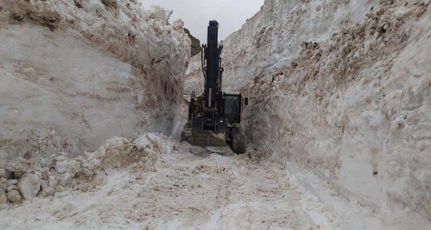 Hakkari'de 8 metre karla mücadele