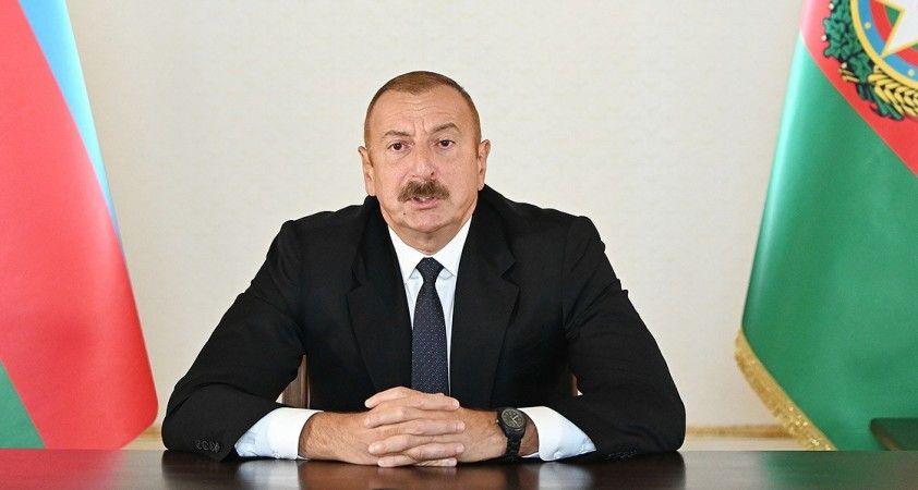 Azerbaycan Cumhurbaşkanı Aliyev: Ermenistan ordusu geri çekilirse çatışmalar durur