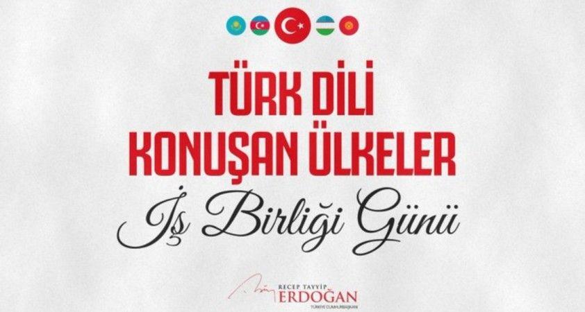 Cumhurbaşkanı Erdoğan 3 Ekim Türk Dili Konuşan Ülkeler İş Birliği Günü'nü kutladı