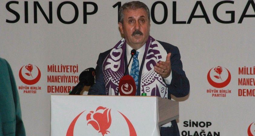 """BBP Genel Başkanı Destici: """"İnşallah bu süreç PKK'nın partisinin kapatılmasıyla sona erecek"""""""