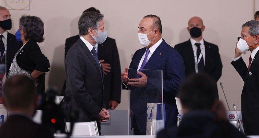 Dışişleri Bakanı Çavuşoğlu, G20 Dışişleri Bakanları Toplantısı'nda ikili temaslarda bulundu
