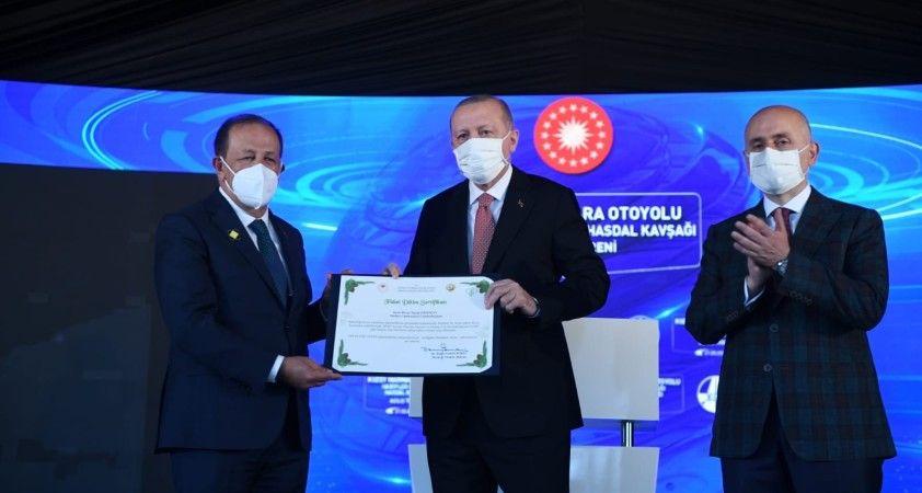 Cumhurbaşkanı Erdoğan adına hatıra ormanı kuruldu