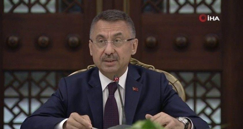 Cumhurbaşkanı Yardımcısı Oktay, yangınla ilgili KKTC Başbakanı Tatar ile görüştü