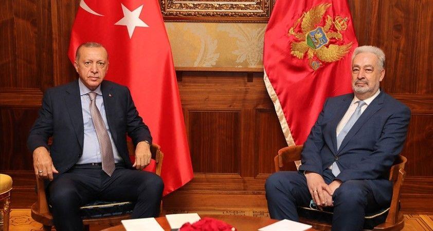 Cumhurbaşkanı Erdoğan, Karadağ Başbakanı Krivokapiç'i kabul etti