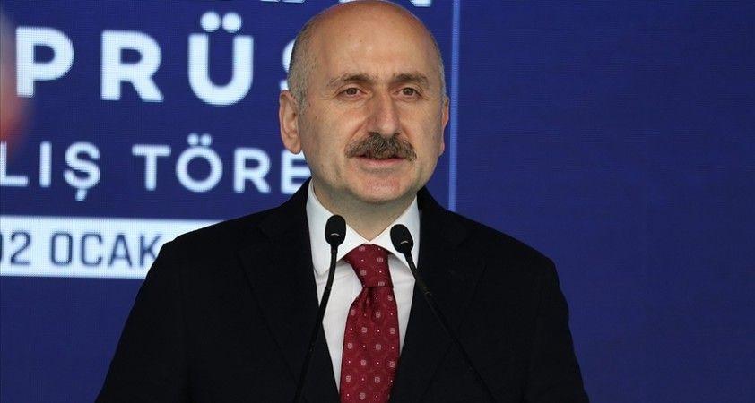 Ulaştırma ve Altyapı Bakanı Karaismailoğlu: 2020 yılı ulaştırma altyapı yatırımları açısından çok verimli geçti