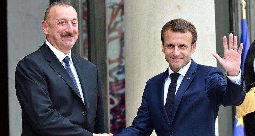 Aliyev ve Macron, Dağlık Karabağ sorunuyla ilgili mevcut durumu görüştü