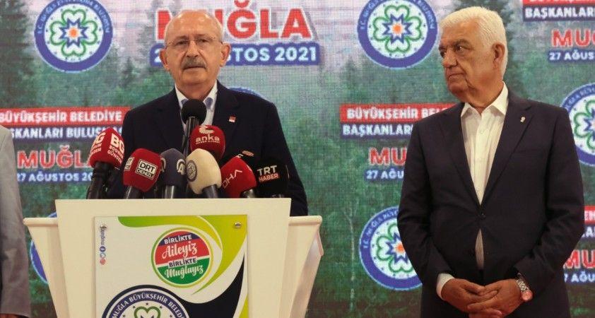 """CHP lideri Kılıçdaroğlu: """"Yangınlarda bir dayanışma kültürü sergilendi"""""""