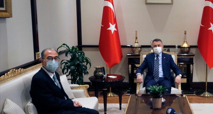 Cumhurbaşkanı Yardımcısı Oktay, Japonya'nın Ankara Büyükelçisi Kazuhiro Suzuki'yi kabul etti