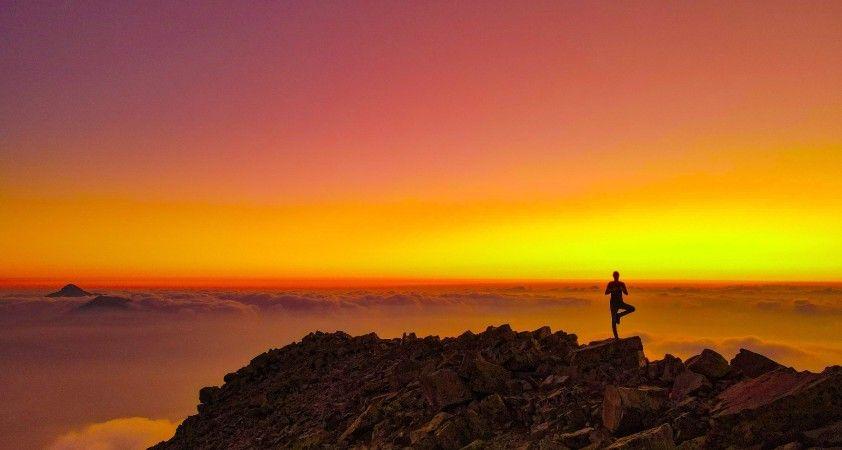 Uludaz Tepesi'nde gün batımı şöleni