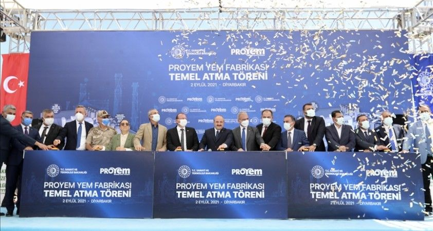 Bakan Varank, Diyarbakır'da Türkiye'nin en büyük entegre yem fabrikasının temelini attı