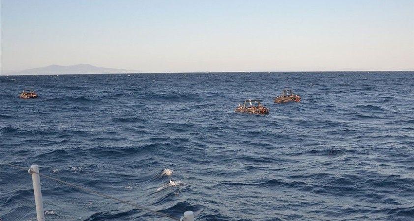 Yunanistan unsurlarının bu yıl geri ittiği yaklaşık 6 bin göçmeni Türkiye kurtardı