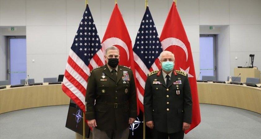 Genelkurmay Başkanı Orgeneral Güler, ABD Genelkurmay Başkanı Orgeneral Milley ile görüştü