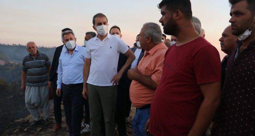 """AK Partili Ömer Çelik: """"Yanan alanların yapılaşmaya açılacağı yalan"""""""