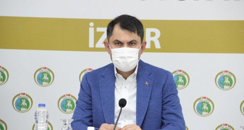"""Bakan Murat Kurum: """"İzmir'de deprem dönüşümünü gerçekleştireceğiz"""""""