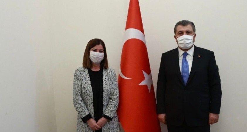 AK Parti Edirne Milletvekili Fatma Aksal Sağlık Bakanı Fahrettin Koca ile görüştü