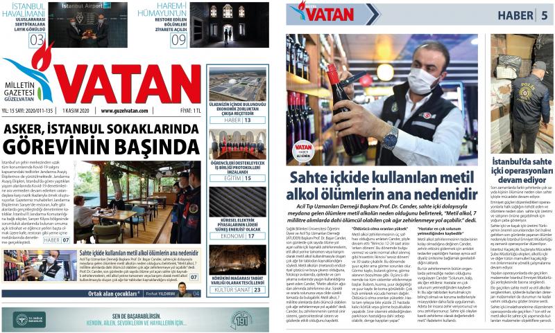 Güzel Vatan Gazetesi Kasım 2020/Sayı:134 - E-Gazete