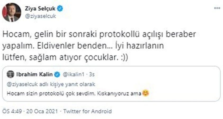 Bakan Selçuk'tan İbrahim Kalın'a yanıt: