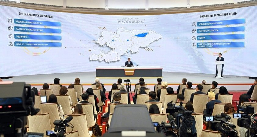 """Kırgızistan Cumhurbaşkanı Caparov: """"SİHA'ları savaşmak için değil korunmak için satın alıyoruz"""""""