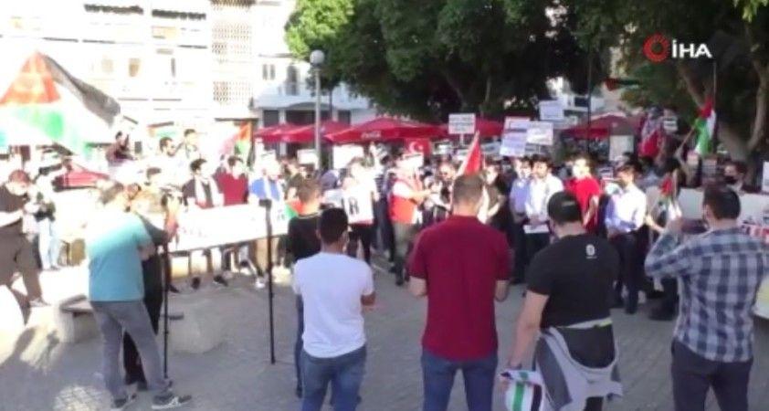 KKTC'de Filistin'e destek protestosu düzenlendi