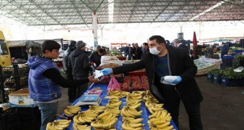 Aksaray'da pazar yerlerinde sağlık tedbiri